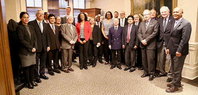 This is an image of Director Tony Loparco with members of the Consular Corps Association of Toronto.