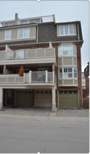 The scene was located in front of a townhouse in a townhouse complex in the City of Mississauga. The townhouse had four-levels, with a balcony on the top level, from which one could access the rooftop.  The area of this rooftop overlooked the paved driveway below.