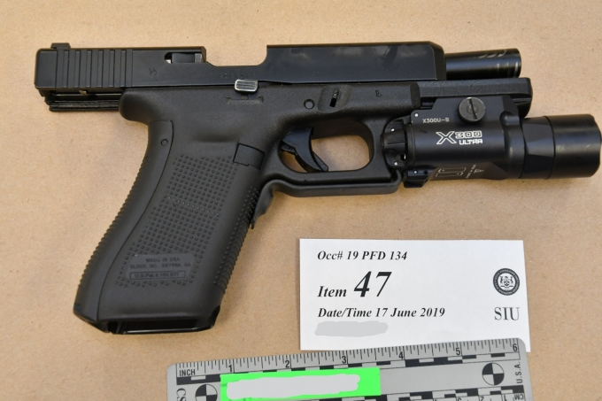 Figure 3 - The SO's Glock handgun.