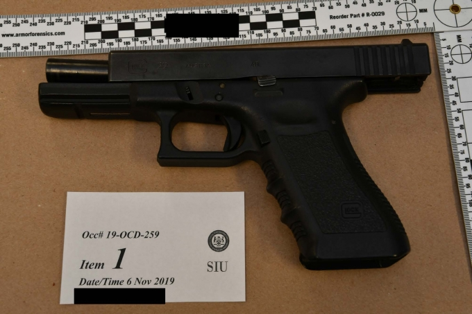 Figure 1: The pistol that was found with the Complainant.
