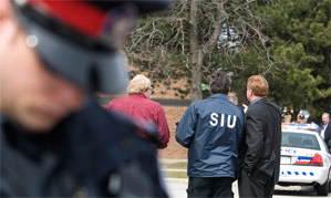 SIU investigator on scene